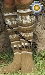 Long 100% Alpaca Socks Classic camel - Product id: ALPACASOCKS13-02 Photo02