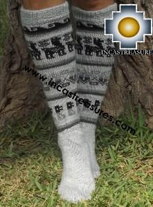 Long 100% Alpaca Socks Classic gray - Product id: ALPACASOCKS13-03 Photo01