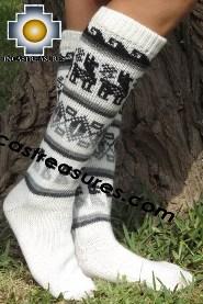 Long 100% Alpaca Socks Classic white - Product id: ALPACASOCKS13-04 Photo03