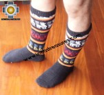 Long Alpaca Socks Llamas Black - Product id: ALPACASOCKS12-01 Photo03
