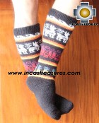 Long Alpaca Socks Llamas Black - Product id: ALPACASOCKS12-01 Photo01