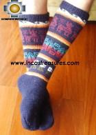 Long Alpaca Socks llamas blue - Product id: ALPACASOCKS12-02 Photo03