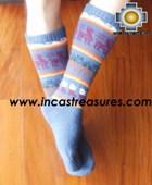 Long Alpaca Socks llamas skyblue - Product id: ALPACASOCKS12-07 Photo03