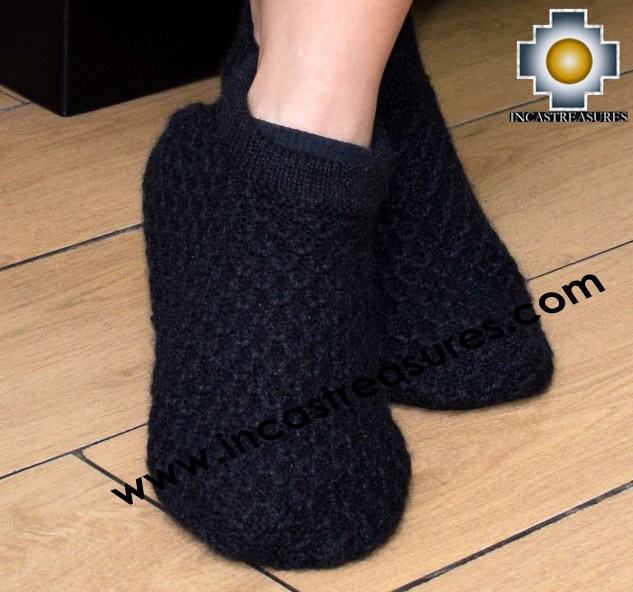 100% Alpaca Slippers Solid Color Arroz