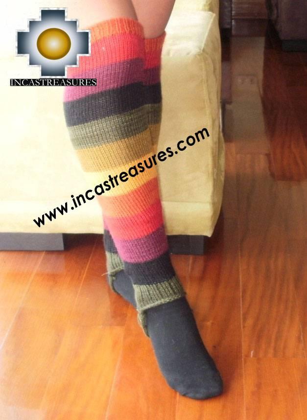 Long Alpaca legwarmers rainbow - Product id: ALPACASOCKS09-15 Photo03