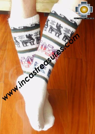 Long Alpaca Socks llamas White,free shipping