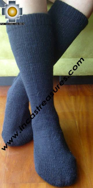 Long Alpaca Socks solid-color ,free shipping