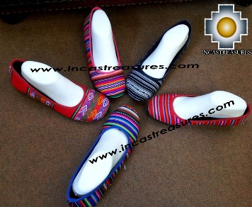 Assorted Bayeta Ballerina Shoe from Inka Peru Fabric