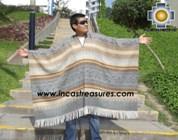 Alpaca Poncho extrafine mamaqucha UNISEX  - Product id: ALPACA-PONCHO12-02 Photo01