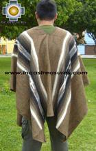 Alpaca Poncho Hualhua brown UNISEX  - Product id: ALPACA-PONCHO09-02 Photo02