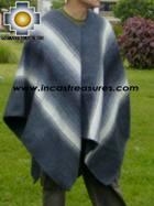 Alpaca Poncho Hualhua gray UNISEX  - Product id: ALPACA-PONCHO09-03 Photo03