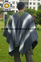 Alpaca Poncho Hualhua gray UNISEX  - Product id: ALPACA-PONCHO09-03 Photo02