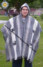 Alpaca Poncho Hualhua Llama with Hood UNISEX  - Product id: ALPACA-PONCHO09-01 Photo03