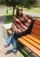 Alpaca Poncho long achachila UNISEX  - Product id: alpaca-poncho09-11 Photo03