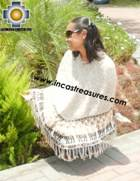 Alpaca Poncho short stripes UNISEX  - Product id: ALPACA-PONCHO09-09 Photo02