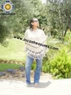 Alpaca Poncho short stripes UNISEX  - Product id: ALPACA-PONCHO09-09 Photo01
