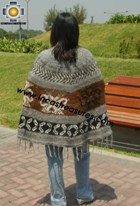 Alpaca Poncho short stripes UNISEX  - Product id: ALPACA-PONCHO12-01 Photo02