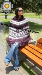 Alpaca Poncho short stripes UNISEX  - Product id: ALPACA-PONCHO09-08 Photo02
