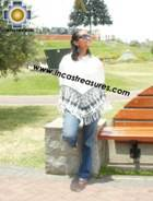 Alpaca Poncho rustic dawn UNISEX  - Product id: ALPACA-PONCHO09-14 Photo02