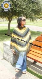 Alpaca Poncho short stripes UNISEX  - Product id: ALPACA-PONCHO09-05 Photo03
