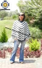 Alpaca Poncho short stripes2 UNISEX  - Product id: ALPACA-PONCHO09-06 Photo01