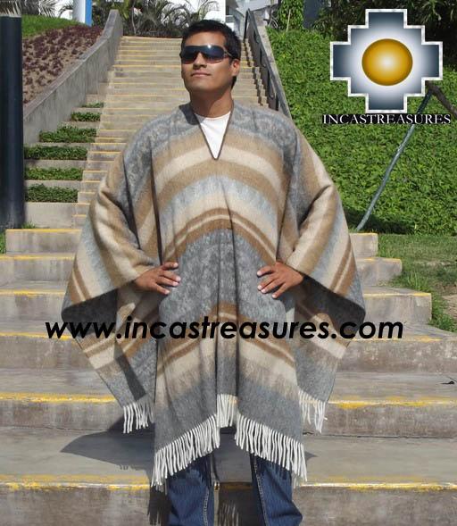 Alpaca Poncho extrafine mamaqucha UNISEX  - Product id: ALPACA-PONCHO12-02 Photo03