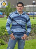 100% Alpaca Men Sweater Clouds- Product id: MENS-SWEATER09-02 Photo03