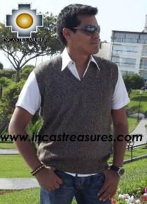 100% Baby Alpaca Fashion Vest  - Product id: Mens-Baby-alpaca-sweater13-04 Photo03