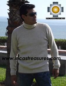 Men Alpaca Sweater Crew Neck - Product id: womens-100-baby-alpaca-sweater13-10 Photo03