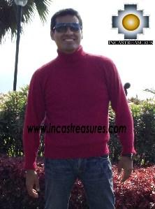 Men Alpaca Sweater Crew Neck - Product id: womens-100-baby-alpaca-sweater13-09 Photo02