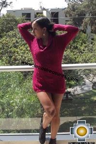 Women Alpaca Sweater Almendra - 100% alpaca Extra Soft