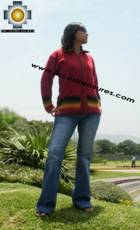 Women alpaca sweater ananaw with zipper  - Product id: womens-alpaca-sweater11-01 Photo02