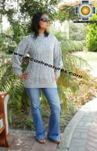 women alpaca sweater gray-irish  - Product id: womens-alpaca-sweater11-08 Photo03