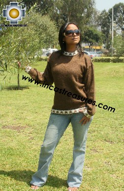 Women Alpaca Sweater Indian - Only for Wholesale