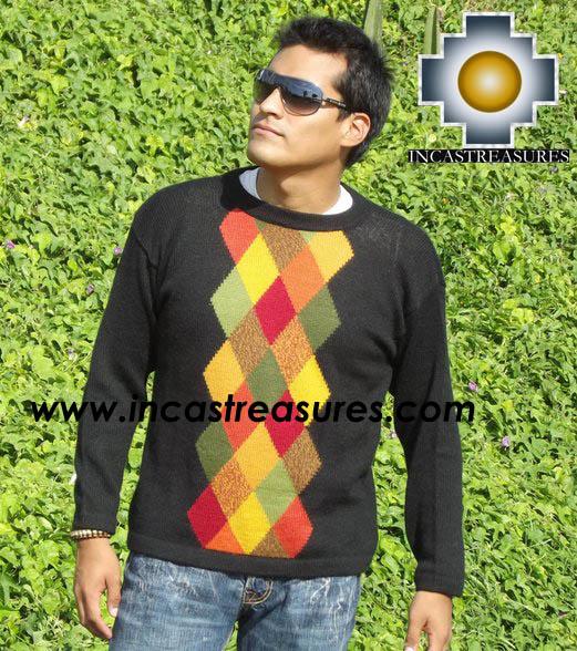 100% alpaca wool sweater for men COCO  - Product id: mens-alpaca-sweater12-01