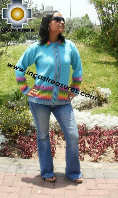 Women alpaca sweater anqa with zipper  - Product id: womens-alpaca-sweater11-02 Photo04