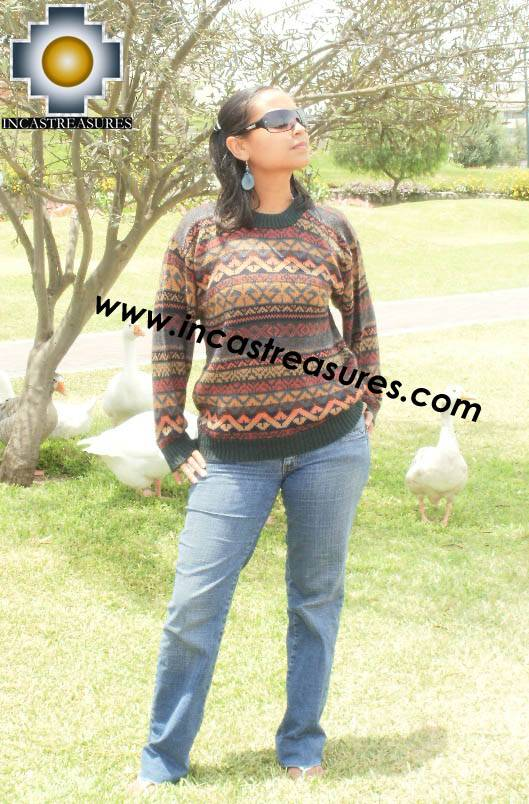 women alpaca sweater chinchaysuyo  - Product id: womens-alpaca-sweater12-06 Photo03