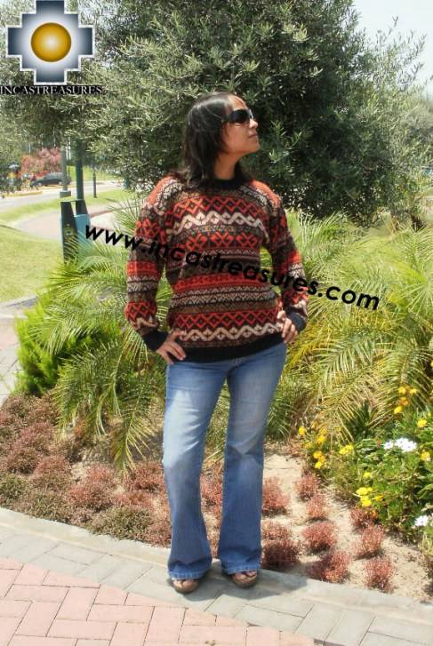 women alpaca sweater contisuyo  - Product id: womens-alpaca-sweater12-09 Photo03