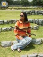 100% Alpaca Women Sweatshirt anuje  - Product id: women-alpaca-sweater12-01 Photo01