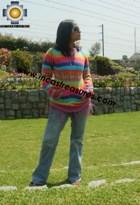 100% Alpaca Women Sweatshirt colibri  - Product id: women-alpaca-sweater12-02 Photo03
