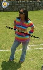 100% Alpaca Women Sweatshirt colibri  - Product id: women-alpaca-sweater12-02 Photo01