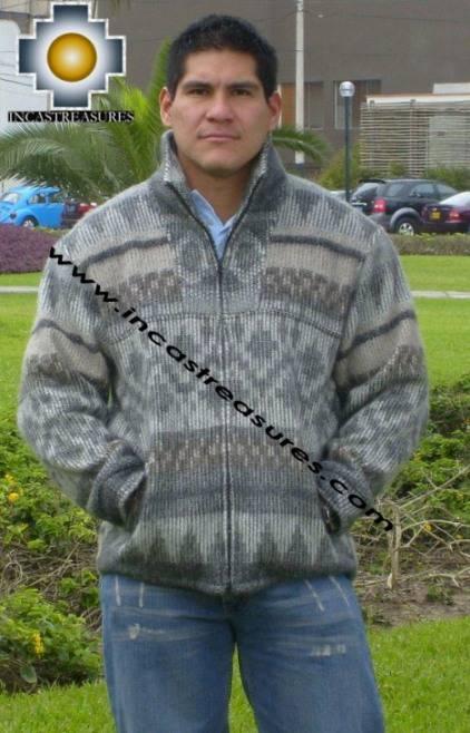 100% Alpaca Jacket andenes  - Product id: MENS-SWEATER09-08 Photo02