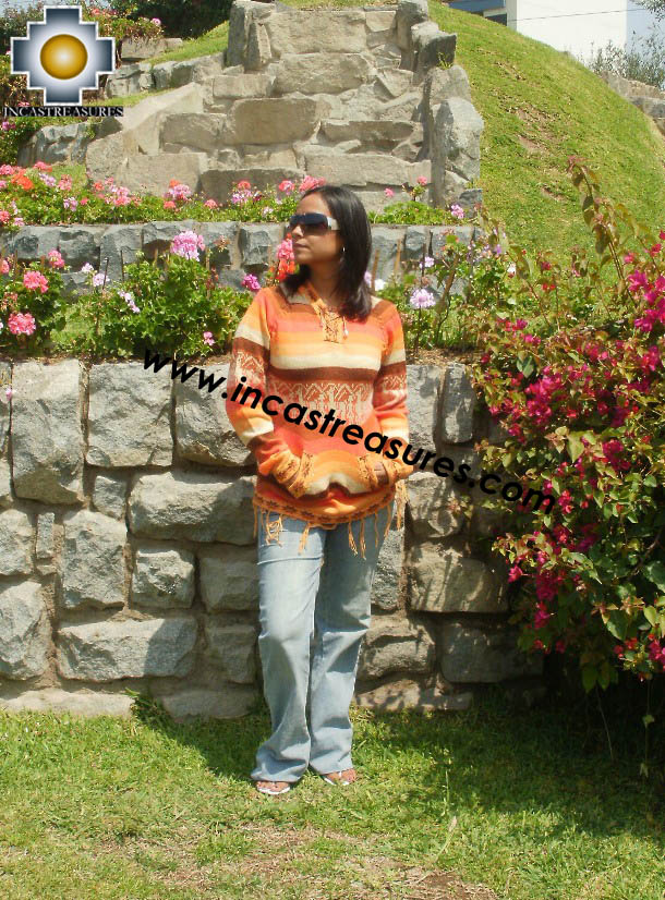 100% Alpaca Women Sweatshirt anuje  - Product id: women-alpaca-sweater12-01 Photo03
