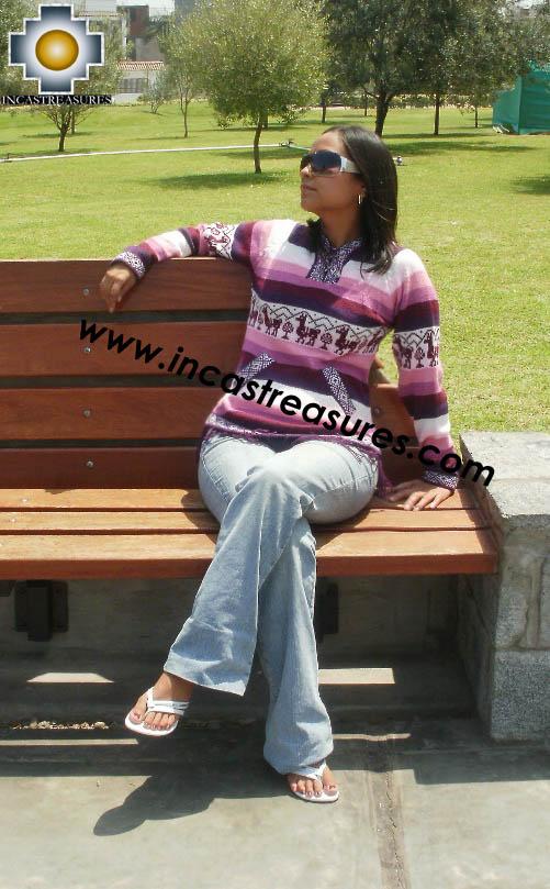 100% Alpaca Women Sweatshirt picaflor- Product id: women-alpaca-sweater12-01 Photo01