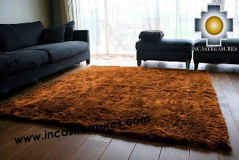 100% baby alpaca fur Rug Borderless brown - Product id: ALPACA-FUR-RUG-13-07 Photo01