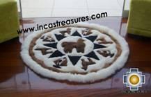 100% Alpaca baby alpaca round fur rug Alpaca Land - Product id: ALPACAFURRUG10-01 Photo03