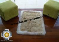 100% Alpaca baby alpaca round fur rug pacha willka - Product id: ALPACAFURRUG10-07 Photo03