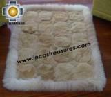 100% Alpaca baby alpaca round fur rug pacha willka - Product id: ALPACAFURRUG10-07 Photo01