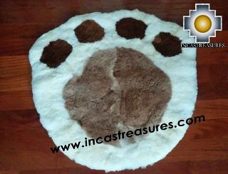100% Alpaca baby alpaca round fur rug paw - Product id: ALPACAFURRUG14-01 Photo03
