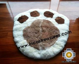 100% Alpaca baby alpaca round fur rug paw - Product id: ALPACAFURRUG14-01 Photo04